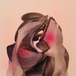 Ida Is Ida Is Ida, 2014, oil and spray on canvas, 27 x 22 cm