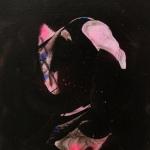 Darling Ida, 2014, oil and spray on canvas, 31 x 27 cm