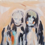 Sisters, 2012, acrylic and oil on canvas, 20 x 20 cm