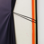 Detail from Game Changer (Tightening), 2020, acrylic, canvas, polyurethane, polyester, nails, string, 204 x 154 x 10 cm