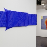 Stretch (Runner´s Painting), 2020, acrylic, polyester, canvas, nails, elastic bands, 47 x 130 cm