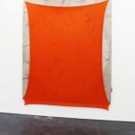 Euphoria, 2020, ink, acrylic, linen, polyester, nails, 212 x 172 cm